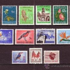 Sellos: SUDAFRICA 248/60** - AÑO 1961 - FLORA - FLORES - FRUTOS - FAUNA - AVES - BARCOS. Lote 9703079
