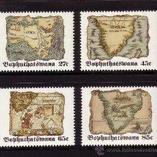 Sellos: BOPHUTHATSWANA 273/76*** - AÑO 1992 - MAPAS ANTIGUOS DE ÁFRICA. Lote 29735815