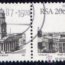 Sellos: SELLO DE SUDAFRICA - 1982 - OFICINA POSTAL DE DURBAN - BLOQUE DE 2 - USADO. Lote 30525191