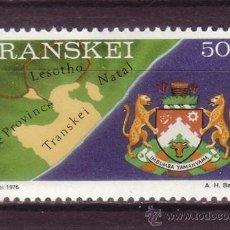Sellos: TRANSKEI 15A*** - AÑO 1980 - LA VIDA EN TRANSKEI - MAPA Y EMBLEMA DE TRANSKEI. Lote 33976163