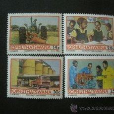 Sellos: BOPHUTHATSWANA 1986 IVERT 173/6 *** PROYECTO TEMISANO PARA EL DESARROLLO. Lote 37787865