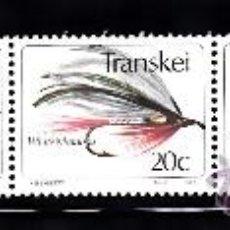 Sellos: TRANSKEI 115/19** - AÑO 1983 - PESCA - MOSCAS ARTIFICIALES. Lote 241139830