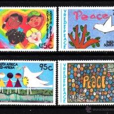 Sellos: SUDAFRICA 844/47** - AÑO 1994 - PAZ Y BUENA VOLUNTAD - DIBUJOS INFANTILES . Lote 43590643