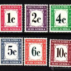 Sellos: SUDAFRICA TASA 42/47** - AÑO 1961 - CIFRAS. Lote 43673137