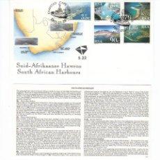 Sellos: SUDAFRICA SOBRE PRIMER DIA 1993 PUERTOS 776 - 780 SPD COMPLETO. Lote 43786654