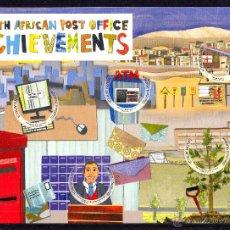 Sellos: SUDAFRICA 2013.HOJA BLOQUE. LOGROS DEL SERVICIO POSTAL SUDAFRICANO. Lote 43824865