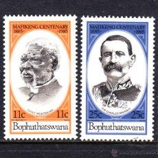 Sellos: BOPHUTHATSWANA 137/38** - AÑO 1985 - CENTENARIO DE LA CIUDAD DE MAFEKING. Lote 45090843