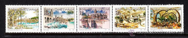 BOPHUTHATSWANA 285/89** - AÑO 1992 - TURISMO - COMPLEJO HOTELERO DE LA CIUDAD DEL SOL (Sellos - Extranjero - África - Sudáfrica)