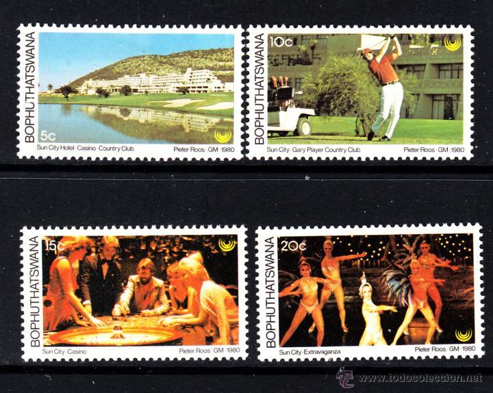 BOPHUTHATSWANA 64/67** - AÑO 1980 - TURISMO - SUN CITY (Sellos - Extranjero - África - Sudáfrica)