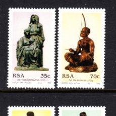 Sellos: SUDAFRICA 772/75** - AÑO 1991 - HOMENAJE AL ESCULTOR ANTON VAN WOUY. Lote 47155104