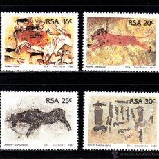 Sellos: SUDAFRICA 623/26** - AÑO 1987 - ARQUEOLOGIA - PINTURAS RUPESTRES. Lote 126690894