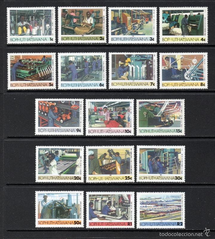 BOPHUTHATSWANA 148/64** - AÑO 1985 - INDUSTRIAS (Sellos - Extranjero - África - Sudáfrica)