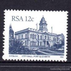 Sellos: SUDAFRICA 583** - AÑO 1985 - ARQUITECTURA - AYUNTAMIENTO DE PORT ELIZABETH. Lote 58660201