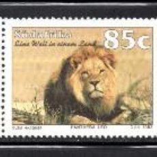 Sellos: SUDAFRICA 829/33** - AÑO 1993 - TURISMO EN SUDAFRICA - FAUNA - FLORA - TRENES. Lote 126690550