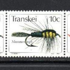 Sellos: TRANSKEI 98/102** - AÑO 1982 - PESCA - MOSCAS ARTIFICIALES. Lote 241139785