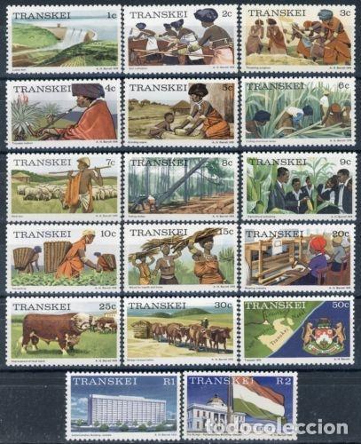 TRANSKEI 1976 IVERT 1/17 *** SERIE BÁSICA - LA VIDA EN TRANSKEI (Sellos - Extranjero - África - Sudáfrica)