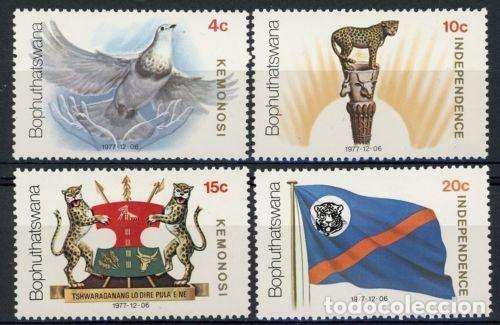 BOPHUTHATSWANA 1977 IVERT 18/21 *** INDEPENDENCIA (Sellos - Extranjero - África - Sudáfrica)