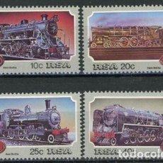 Sellos: AFRICA DEL SUR - RSA 1980 IVERT 535/8 *** LOCOMOTORAS DE VAPOR EN AFRICA DEL SUR. Lote 68147825