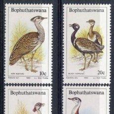 Sellos: BOPHUTHATSWANA 1983 IVERT 112/5 *** FAUNA - AVES DE LA SABANA. Lote 68676517