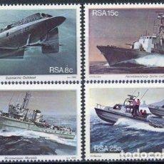 Sellos: AFRICA DEL SUR - RSA 1982 IVERT 502/5 *** BASE NAVAL DE SIMONSTOWN - BARCOS DE GUERRA. Lote 72017427