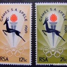 Sellos: AFRIQUE DU SUD SOUTH AFRICA AFRICA DEL SUR RSA 1969 JEUX SPORTIFS YVERT N º 318 / 19 ** MNH. Lote 72294211