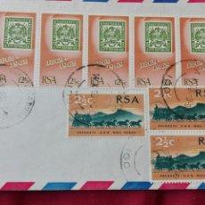 Sellos: CARTA CIRCULADA DE SUDÁFRICA A SUIZA 1969. Lote 78387273