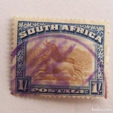 Sellos: SUDAFRICA (SOUTH AFRICA) 1930, GNUSS (FAUNA) 1SH VIOLETA. Lote 91862660