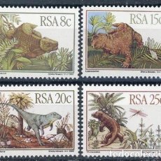 Sellos: AFRICA DEL SUR - RSA 1982 IVERT 527/30 *** FAUNA - ANIMALES PRHISTÓRICOS - DINOSURIOS. Lote 105460407