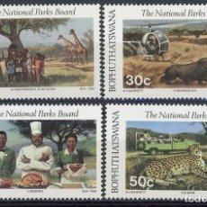 Sellos: BOPHUTHATSWANA 1988 IVERT 202/5 *** PARQUE NACIONALES - FAUNA - ANIMALES SALVAJES. Lote 105463455