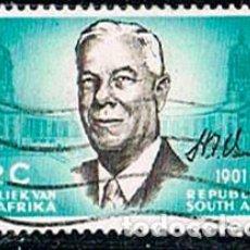 Sellos: AFRICA DEL SUR Nº 356, HENDRIK VERWOERD, EX PRESIDENMTE DE SUDEAFRICA, USADO. Lote 114624563
