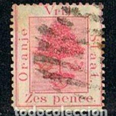 Sellos: ESTADO LIBRE DE ORANGE Nº 6, SUDAFRICA, USADO. Lote 114626083