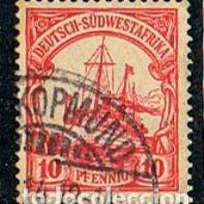 Sellos: SUDÁFRICA, COLONIA DE ALEMANIA Nº 15, THE KAISER'S SHIP HOLENZOLLEN, USADO. Lote 114626751