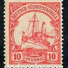 Sellos: SUDÁFRICA, COLONIA DE ALEMANIA Nº 15, THE KAISER'S SHIP HOLENZOLLEN, NUEVO CON SEÑAL DE CHARNELA. Lote 114626875