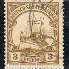 Sellos: SUDÁFRICA, COLONIA DE ALEMANIA Nº 13, THE KAISER'S SHIP HOLENZOLLEN, USADO. Lote 114626903