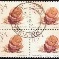 Sellos: BLOQUE DE 4 DEL YVERT 674. SERIE DE FLORA SUDAFRICANA. USADO.. Lote 122612767