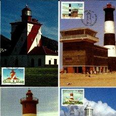Sellos: SUDAFRICA 1988- YVERT 656/59 [SERIE (4TM) FAROS] (TARJETA MÁXIMA). Lote 126590411