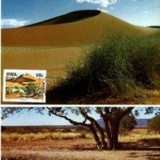 Sellos: AFRICA-SWA SUROCCIDENTAL 1988- YVERT 57/81 [SERIE: (4TM) LUGARES DESTACADOS] (TARJETA MÁXIMA). Lote 126595839