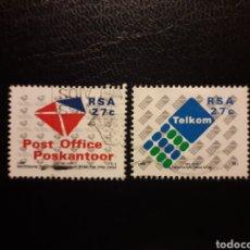 Sellos: SUDÁFRICA. YVERT 740/1. SERIE COMPLETA USADA. PRIVATIZACIÓN DEL SERVICIO POSTAL. Lote 135857925