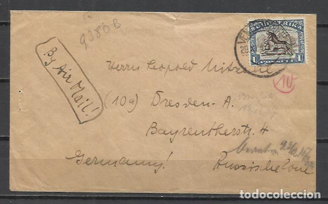 Q380B-CARTA SUR AFRICA SEDAFRICA A BERLÍN ALEMANIA 1942 VEAN FOTOS ANVERSO Y REVERSO,HISTORIA POSTAL (Sellos - Extranjero - África - Sudáfrica)