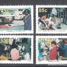 Sellos: VENDA (REP. SUDAFRICANA) Nº 257/260** INDUSTRIA DEL CALZADO. SERIE COMPLETA. Lote 138873110
