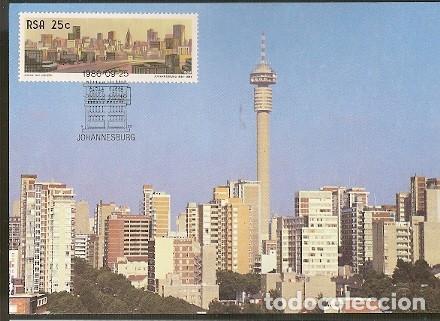 SUDAFRICA & MAXI, JOHANNESBURGO, LA CIUDAD DORADA, MINERÍA DE ORO 1986 (49) (Sellos - Extranjero - África - Sudáfrica)