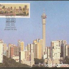 Sellos: SUDAFRICA & MAXI, JOHANNESBURGO, LA CIUDAD DORADA, MINERÍA DE ORO 1986 (49). Lote 143597914