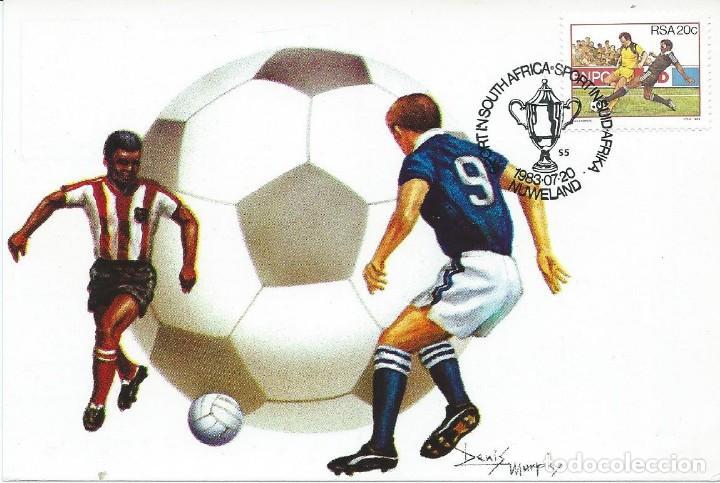 1983. SUDÁFRICA/SOUTH AFRICAN REPUBLIC. MÁXIMA/MAXIMUM CARD. FÚTBOL/FOOTBALL. DEPORTES/SPORTS. (Sellos - Extranjero - África - Sudáfrica)