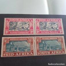 Sellos: SUDÁFRICA,1938,CONMEMORACIÓN COLONOS BOERS,SCOTT 79-80*,NUEVOS,SEÑAL FIJASELLO,(LOTE AG). Lote 147341738