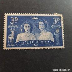 Sellos: SUDÁFRICA,1947,VISITA FAMILIA REAL BRITÁNICA,SCOTT 105A*,NUEVO,FIJASELLO,(LOTE AG) . Lote 147589418