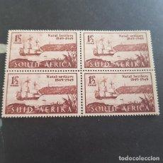 Sellos: SUDÁFRICA,1949,ANIV.LLEGADA COLONOS A NATAL,SCOTT 108**,NUEVO SIN FIJASELLO,(LOTE AG) . Lote 147593150