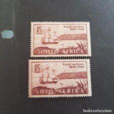 Sellos: SUDÁFRICA,1949,ANIV.LLEGADA COLONOS A NATAL,SCOTT 108A-108B**,NUEVOS SIN FIJASELLO,(LOTE AG) . Lote 147595266