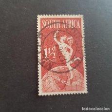 Sellos: SUDÁFRICA,1949,75º ANIVERSARIO DE LA UPU,SCOTT 110A,MATASELLO DE MILLER,(LOTE AG) . Lote 147607530