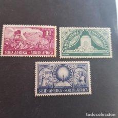 Sellos: SUDÁFRICA,1949,MONUMENTO COLONOS BOERS,PRETORIA,SCOTT 112-114**,NUEVOS SIN FIJASELLO,LEER,(LOTE AG) . Lote 147609694
