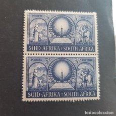 Sellos: SUDÁFRICA,1949,MONUMENTO COLONOS BOERS,PRETORIA,SCOTT 114**,PAREJA,NUEVOS SIN FIJASELLO,(LOTE AG) . Lote 147688142